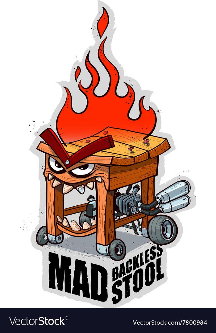 Mad backless stool