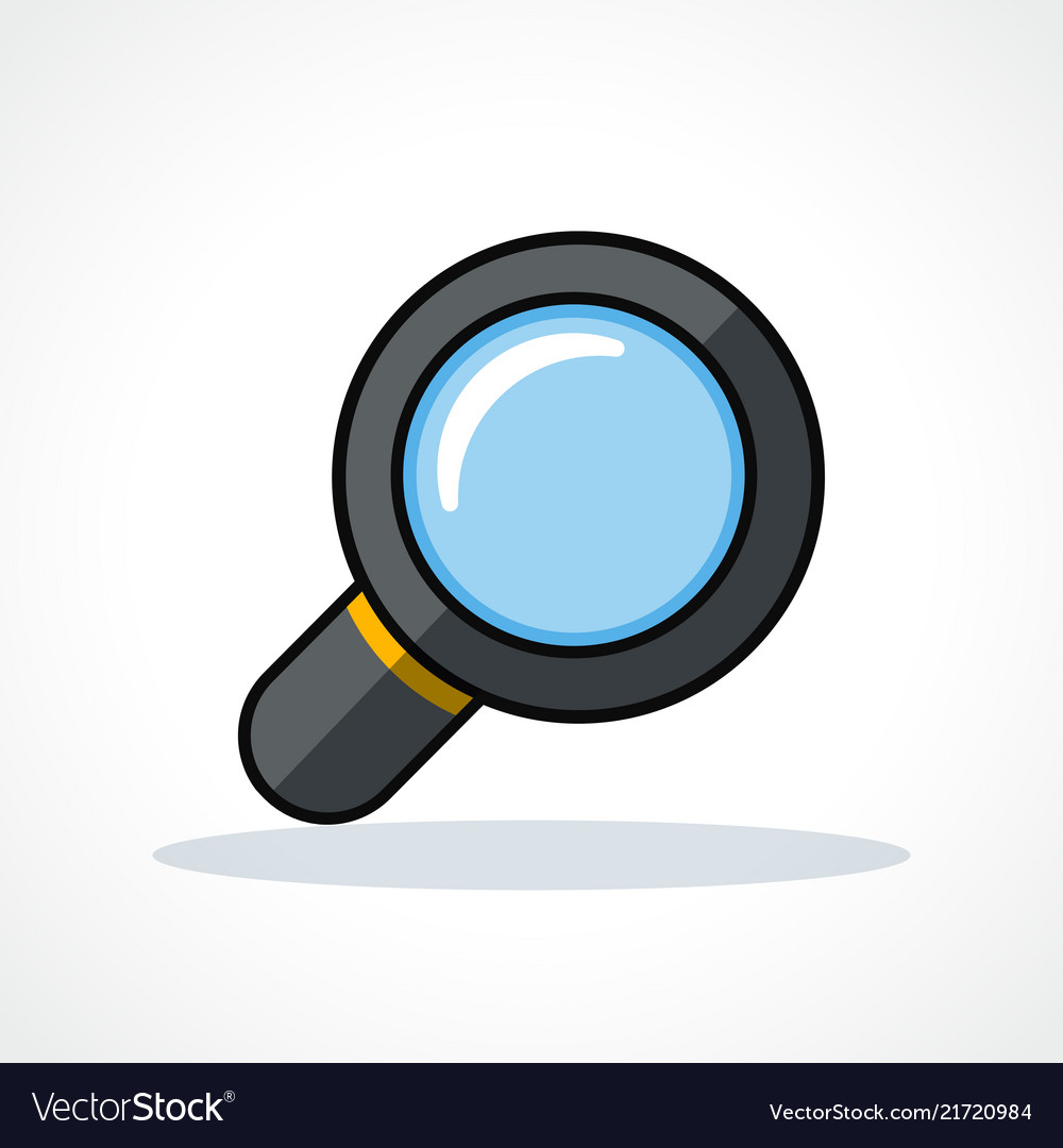 Magnifying glass design clipart