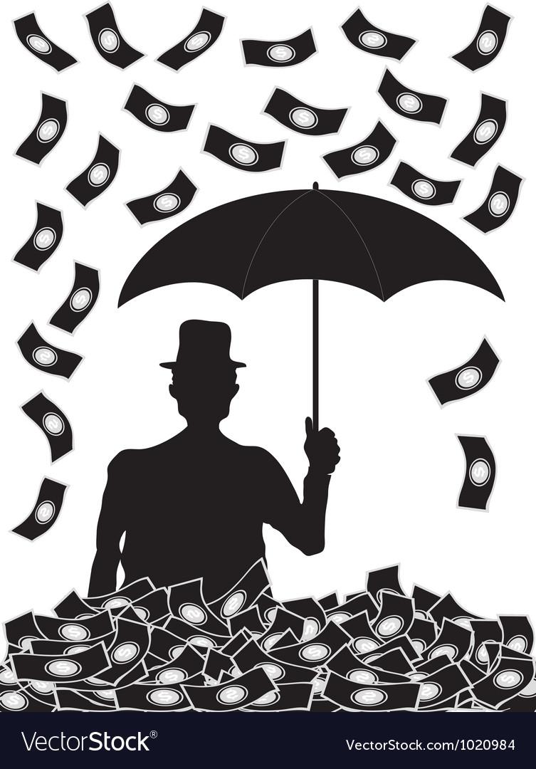 Money falling vector image