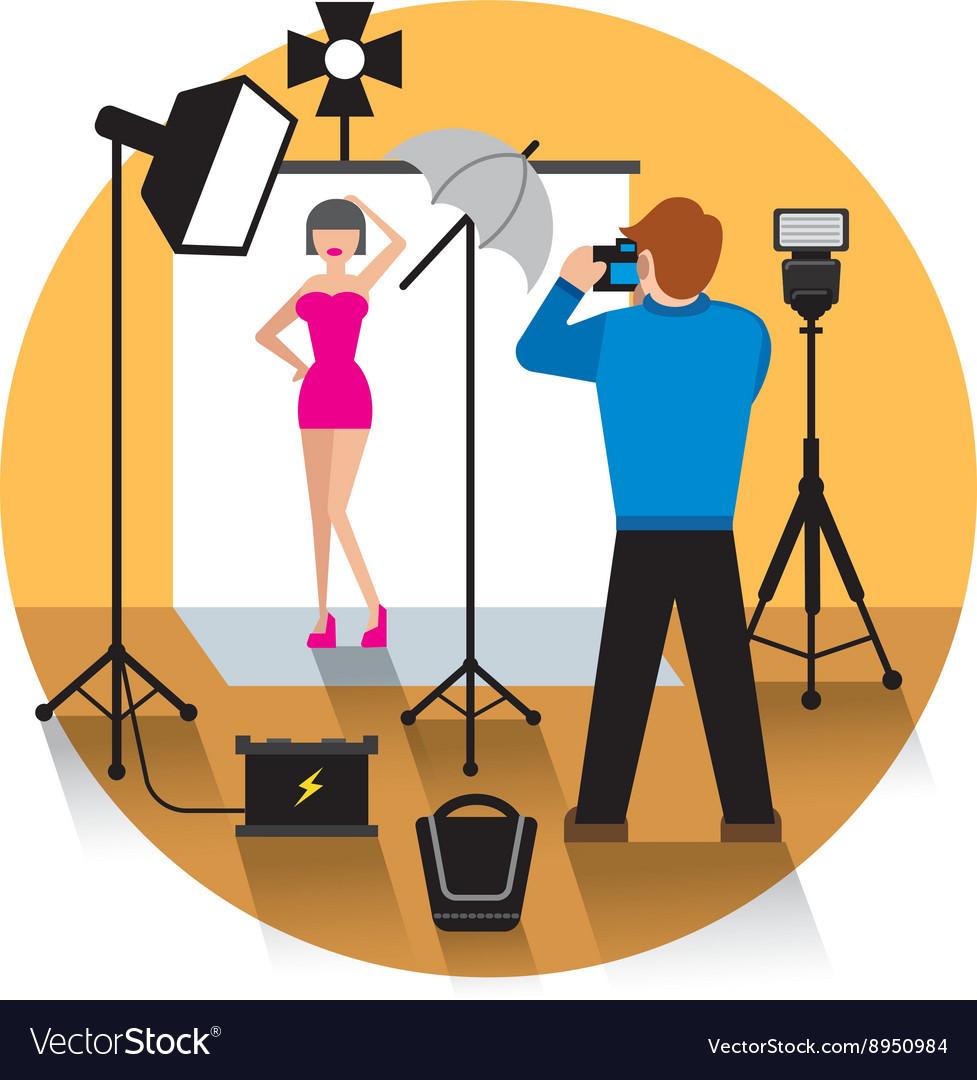 Photo studio concept icon