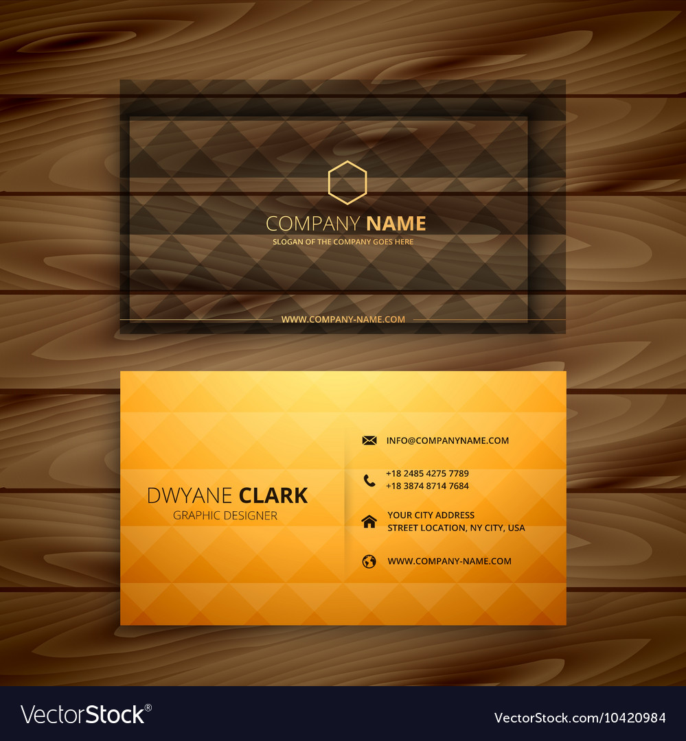 Premium diamond shape golden business card vector image colourmoves