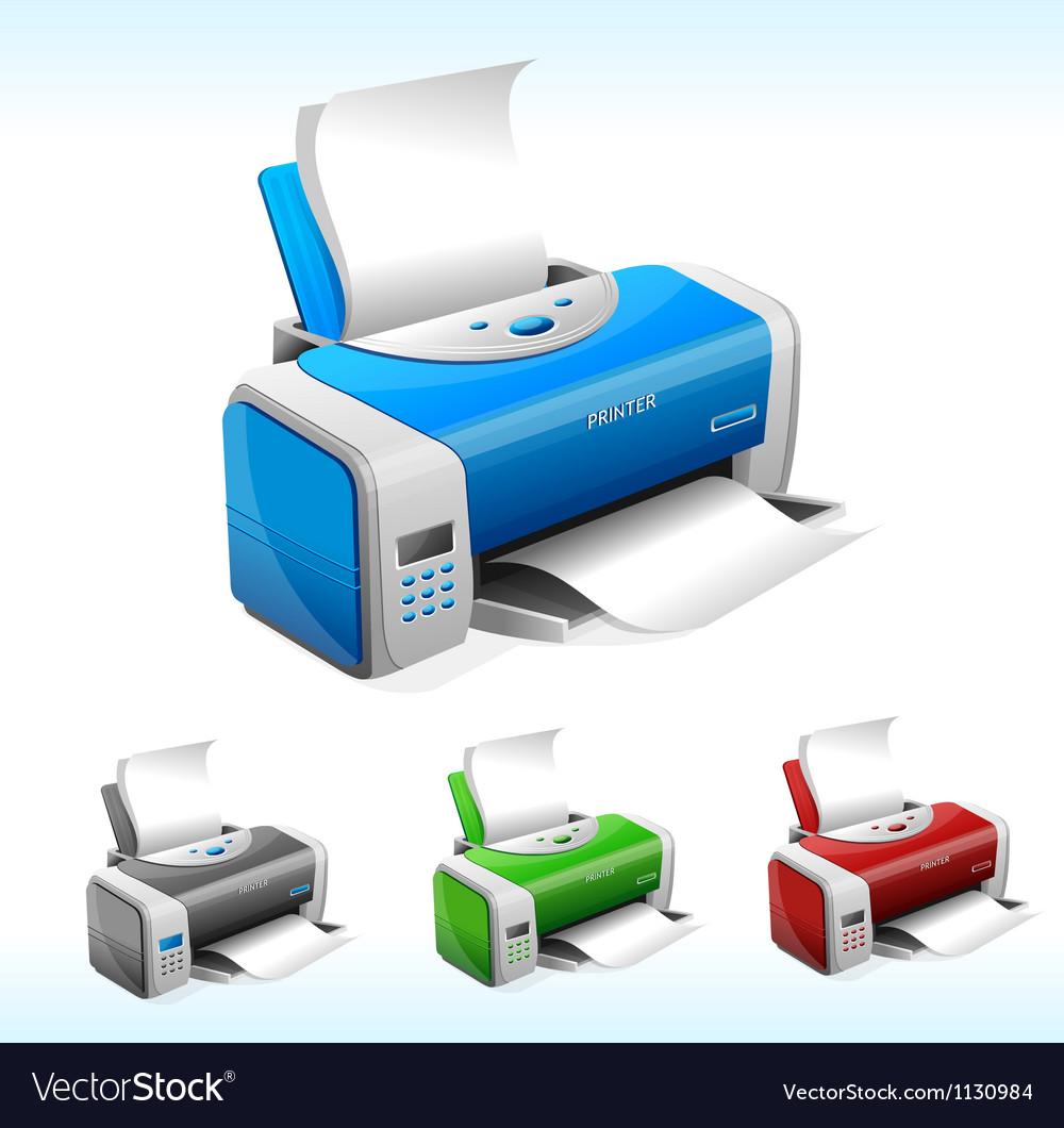 printer royalty free vector image vectorstock vectorstock