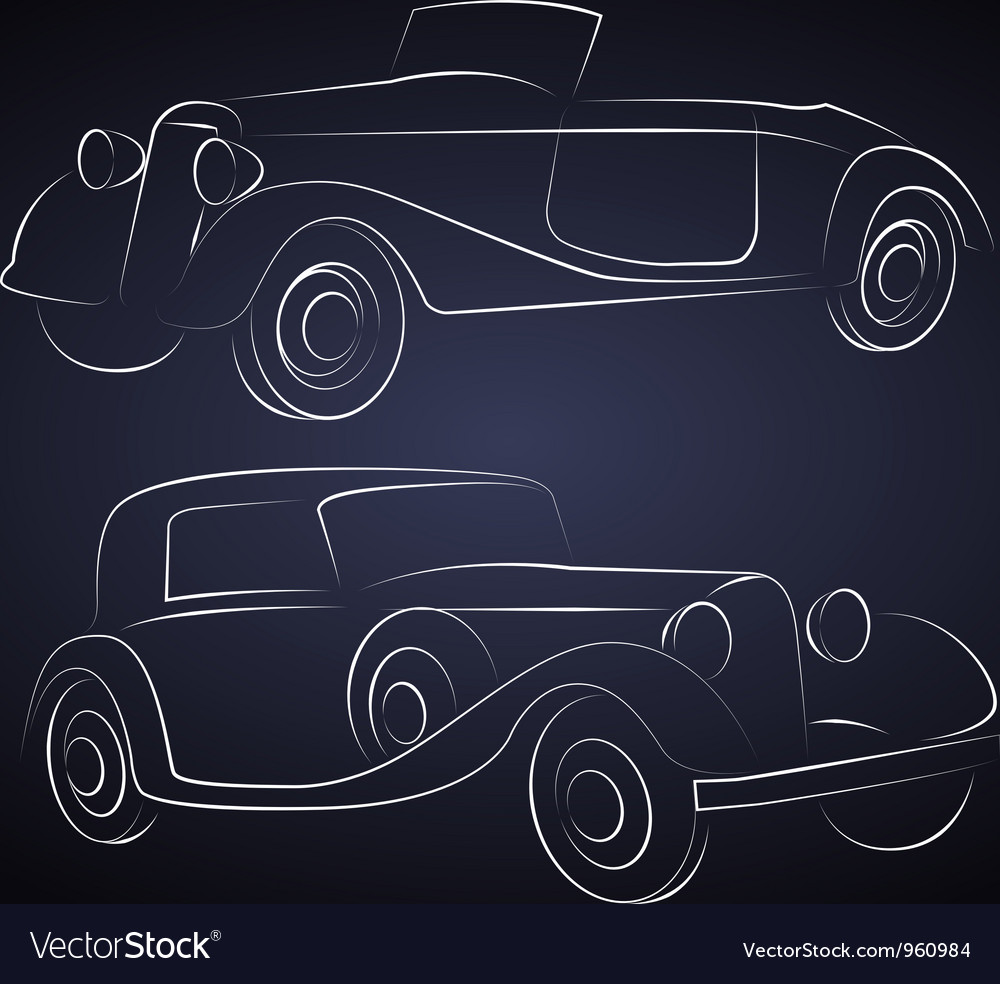 Retro Car Silhouettes