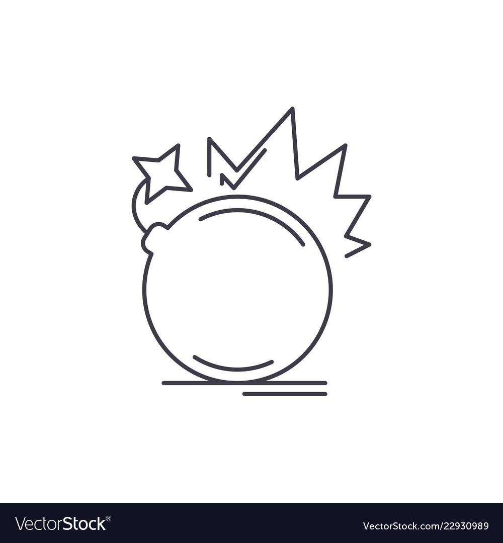 Bomb line icon concept bomb linear