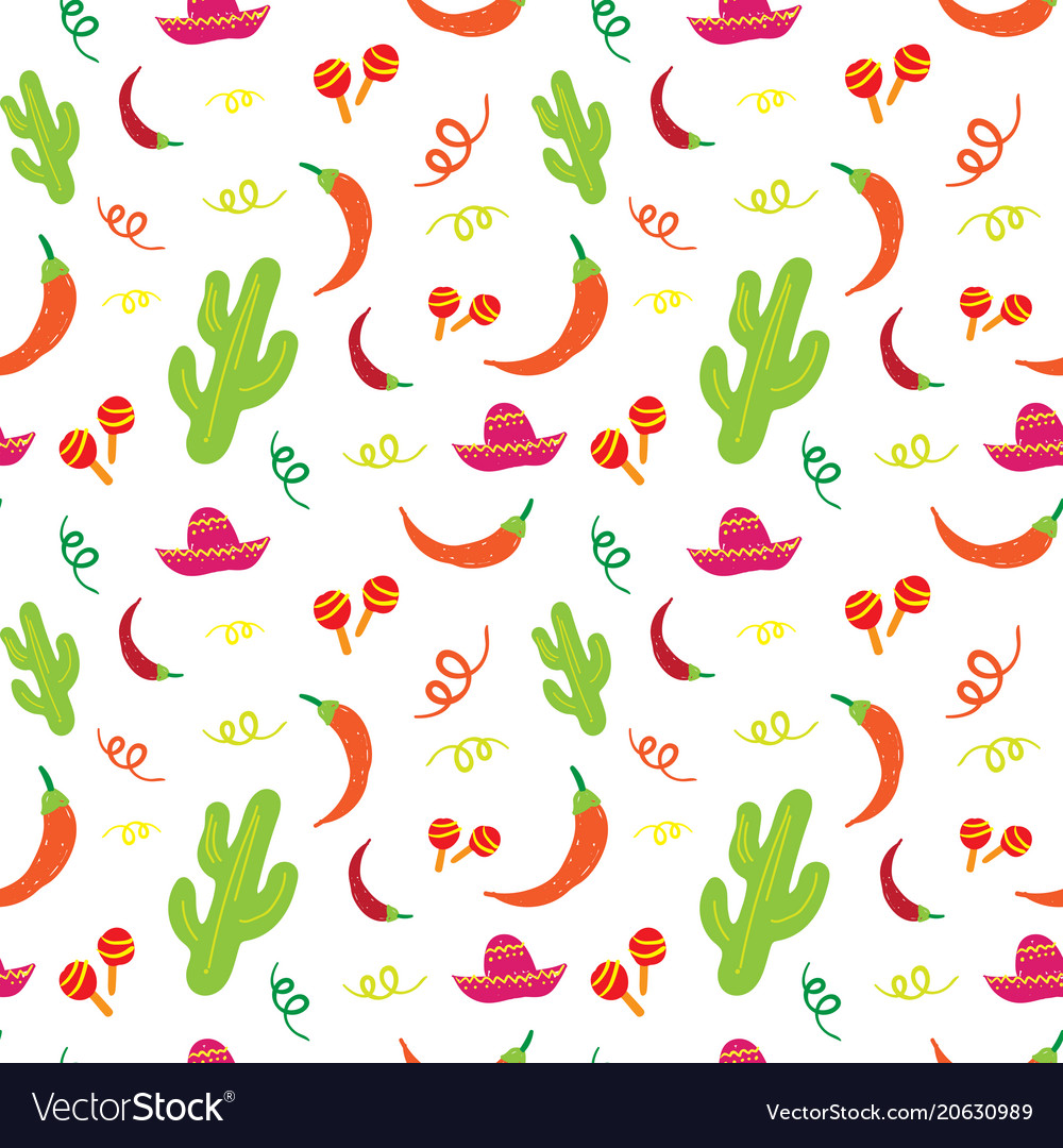 Cinco de mayo mexican holiday seamless pattern