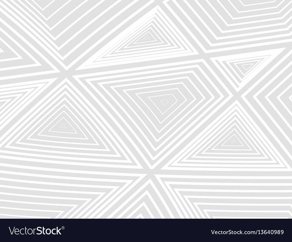 Concentration of white geometric shapes on a gray vector image