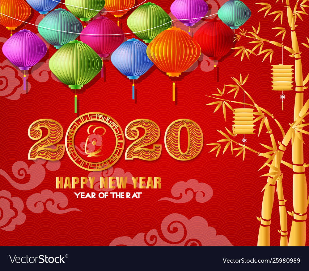 Asian New Year 2020.Happy Chinese New Year 2020 Year The