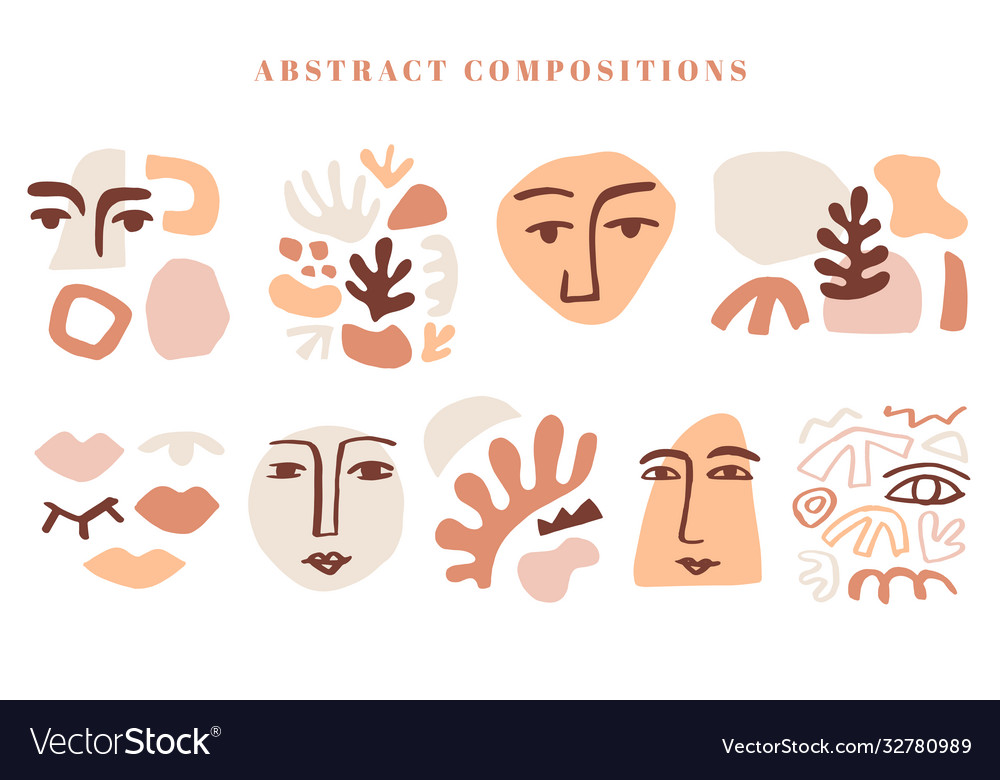 Modern abstract shape templates set