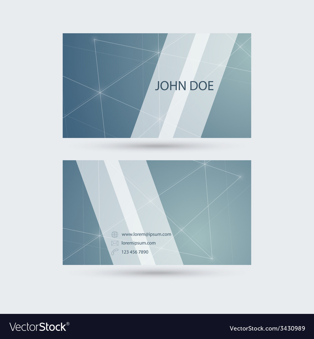 Modern business card template with sparkling lines