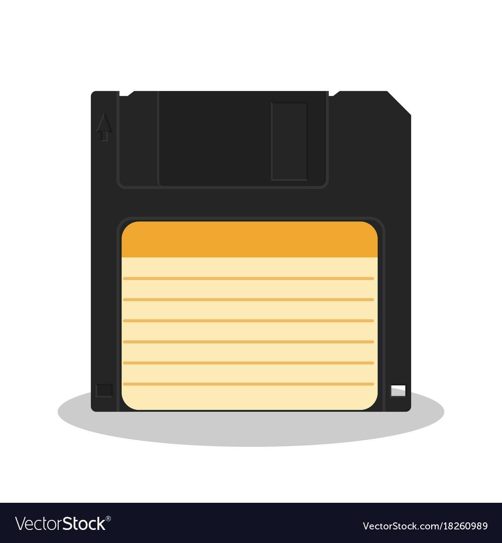 Retro floppy diskette isolated on a white