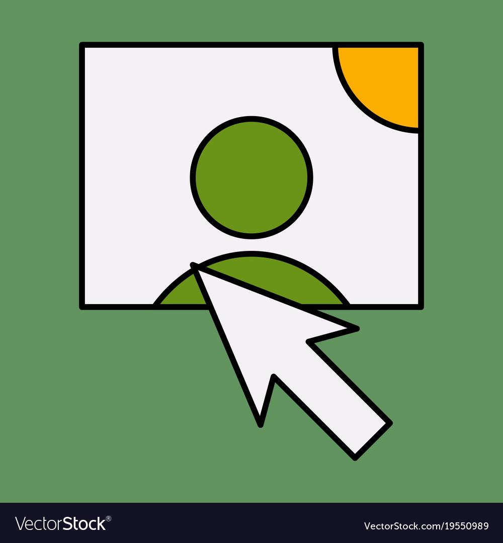 Web design elements picture mouse arrow icon