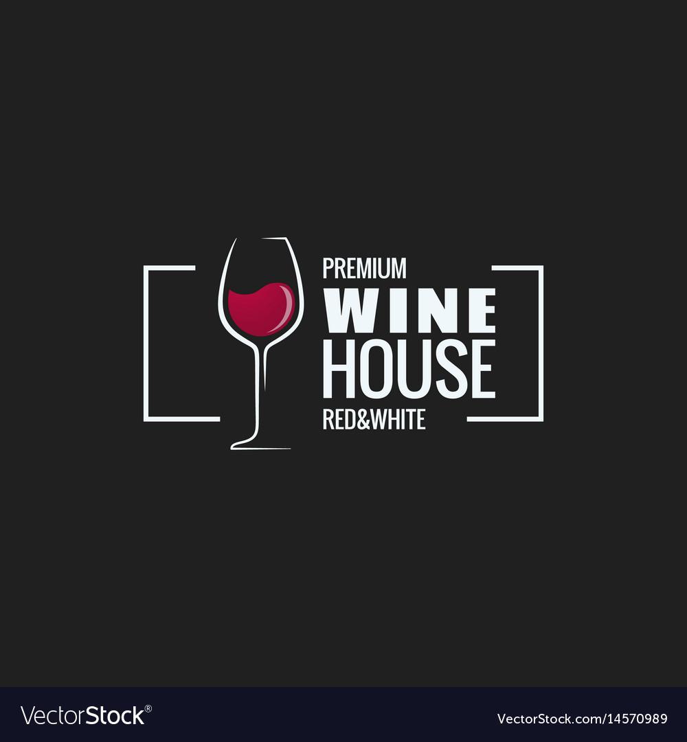 Wine glass border design background vector image