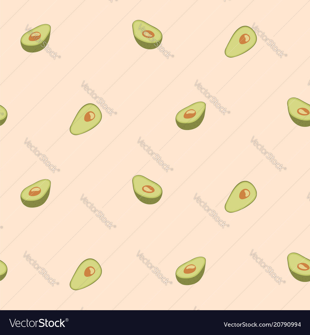 Avocado seamless pattern for print fabric