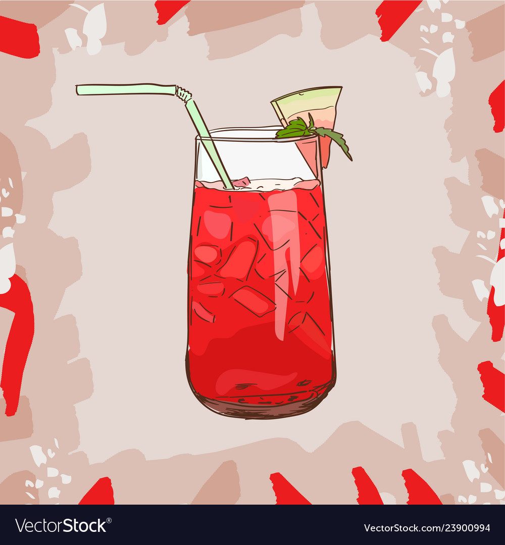 Background with glassware jar with watermelon