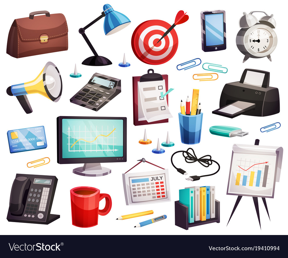 Accessories Symbols Collection Vector Image