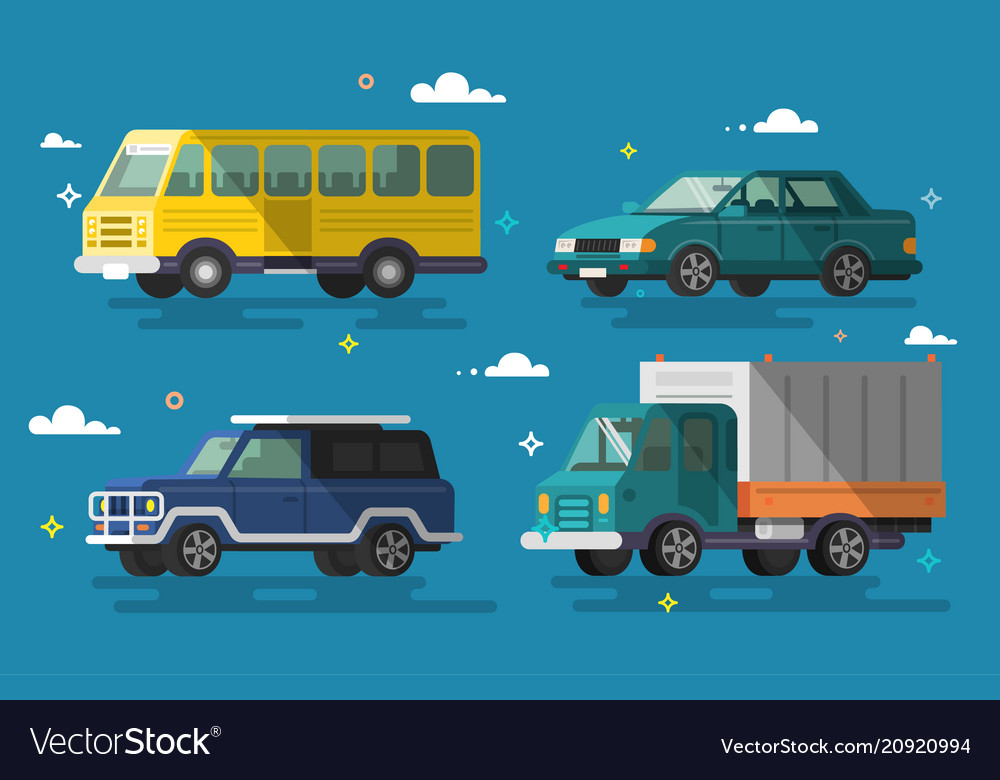 Cars and vehicles transport