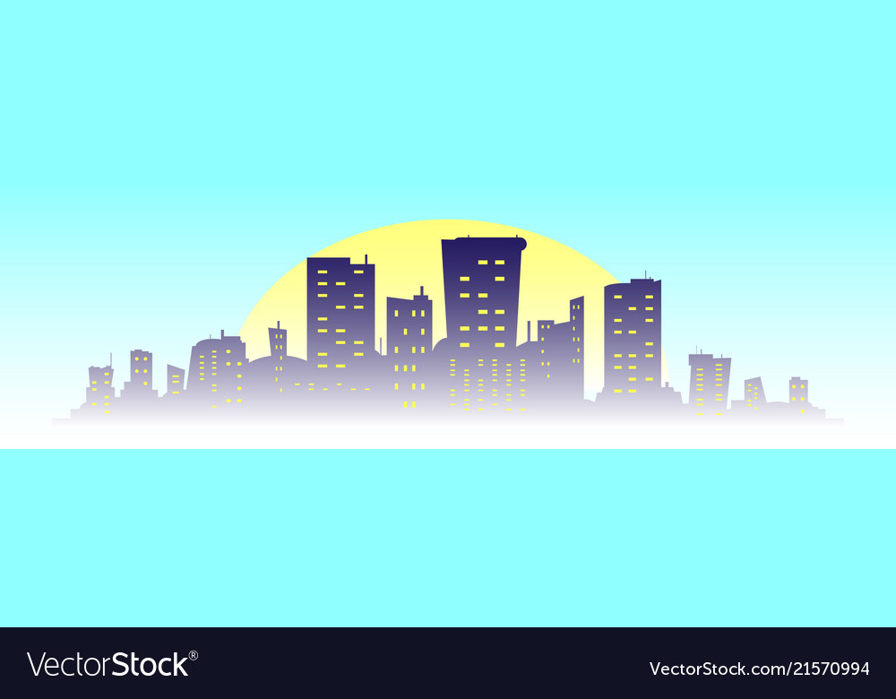 City building silhouette