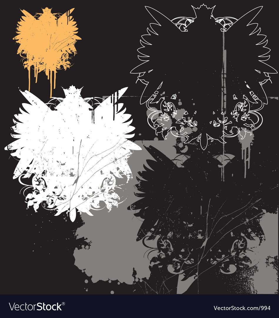 Grunge heraldry pack