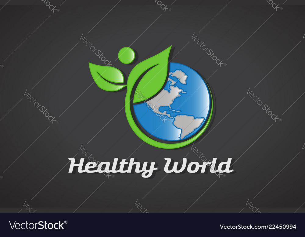 Healthy world logo