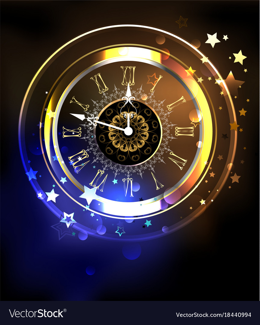 Luminous clock with stars