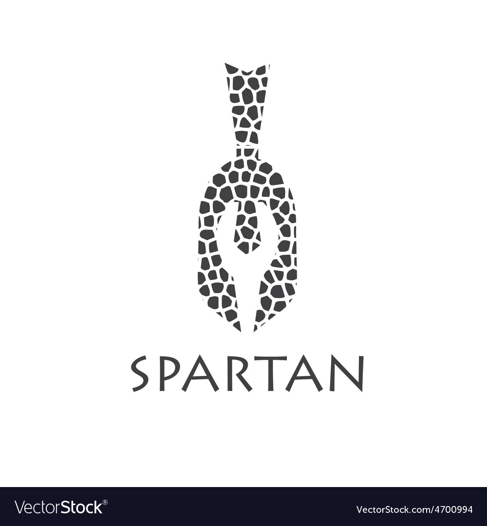 Mosaic Vintage Antiques Spartan warrior design vector image