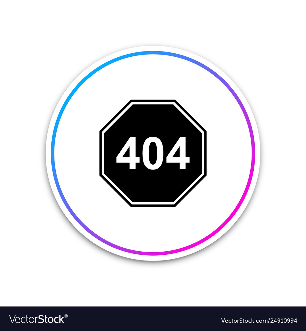 Page with a 404 error icon isolated on white