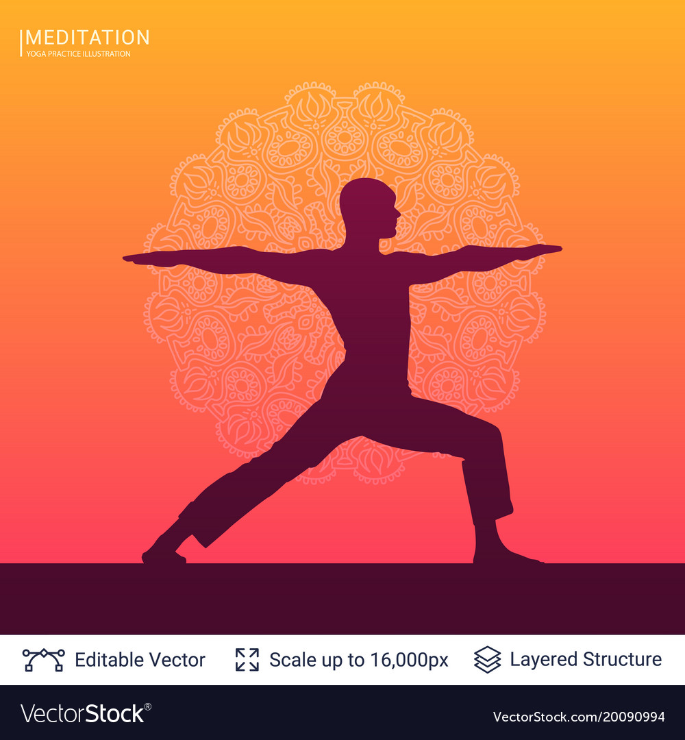 Yoga Background Template Royalty Free Vector Image