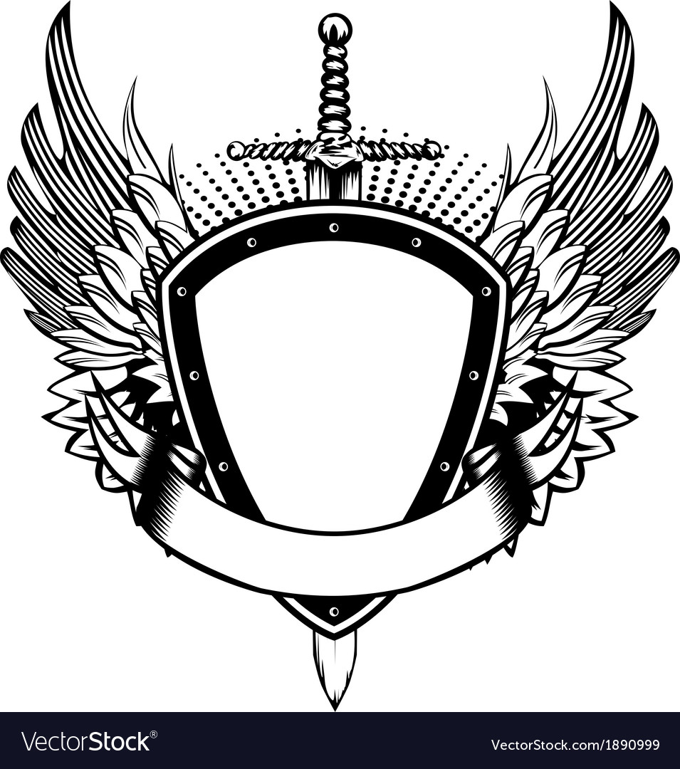 board sword and wings royalty free vector image rh vectorstock com  wing vector graphic
