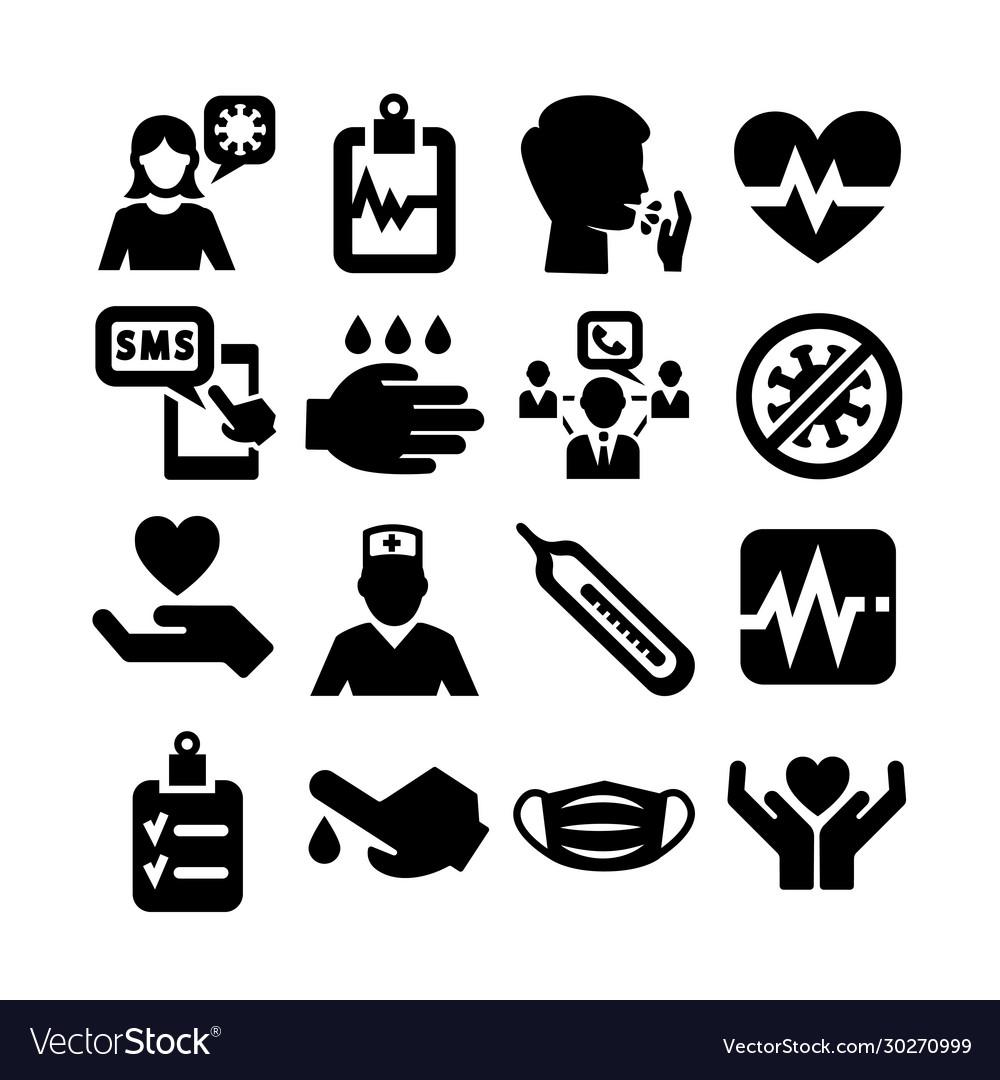 Coronavirus icon set