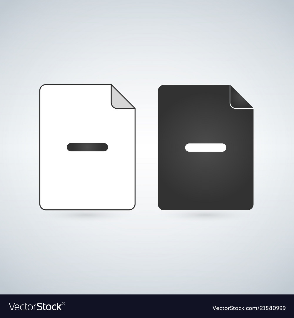 Delete or remove document file icon flat sign for