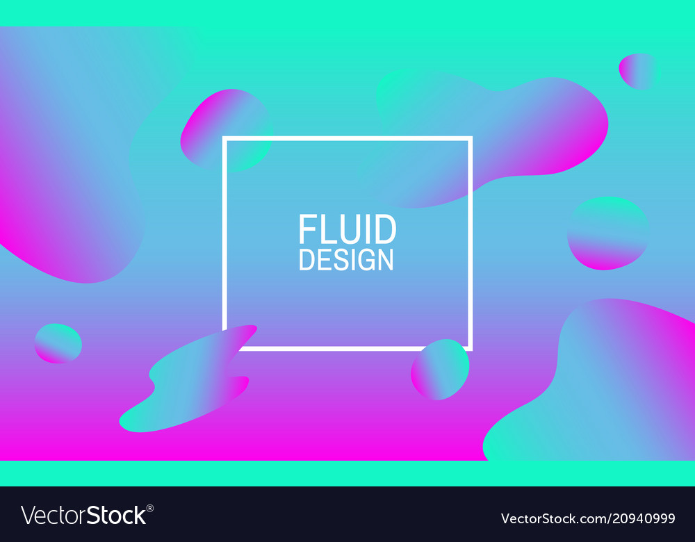 Fluid bubbles colorful abstract background