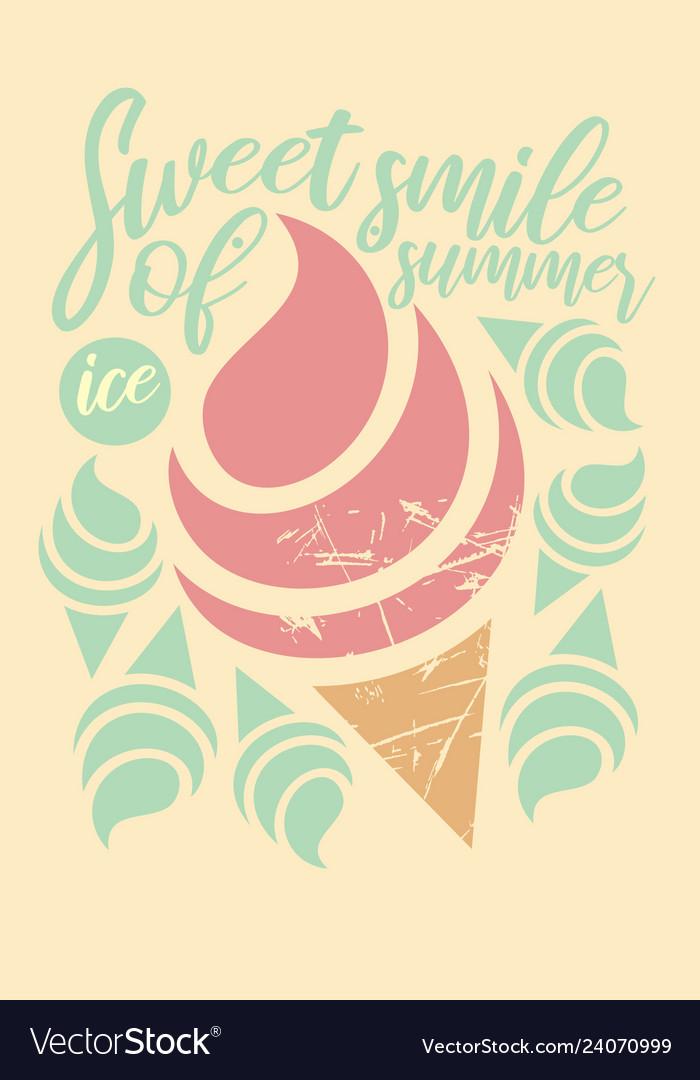 Fresh retro design for t shirt ice cream