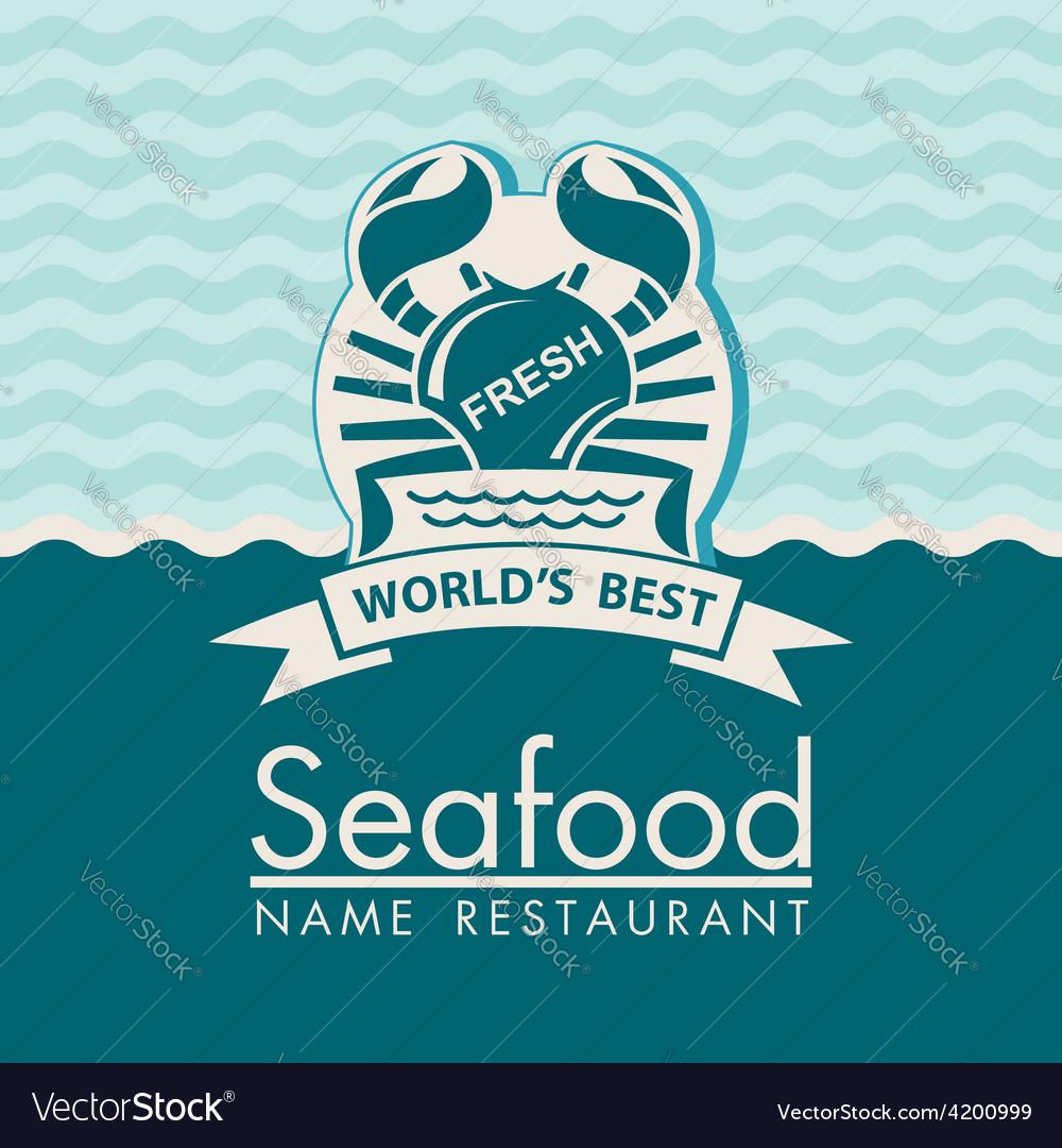 Seafood menu design