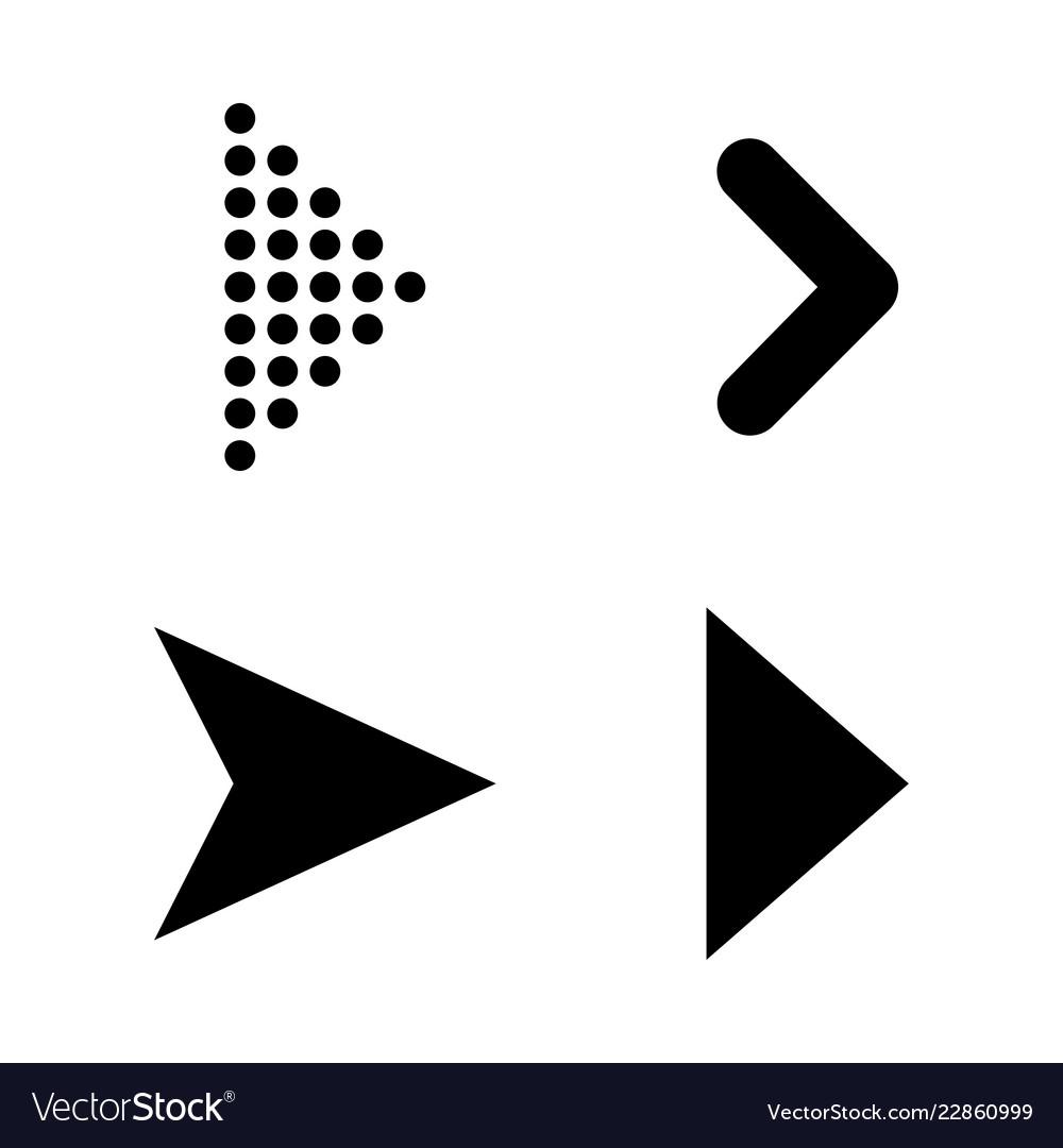 Set of black arrows arrow icon arrow icon arrow