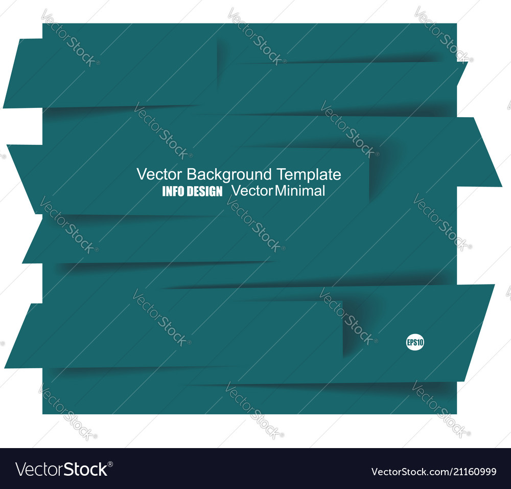 Set of paper banners template for business design