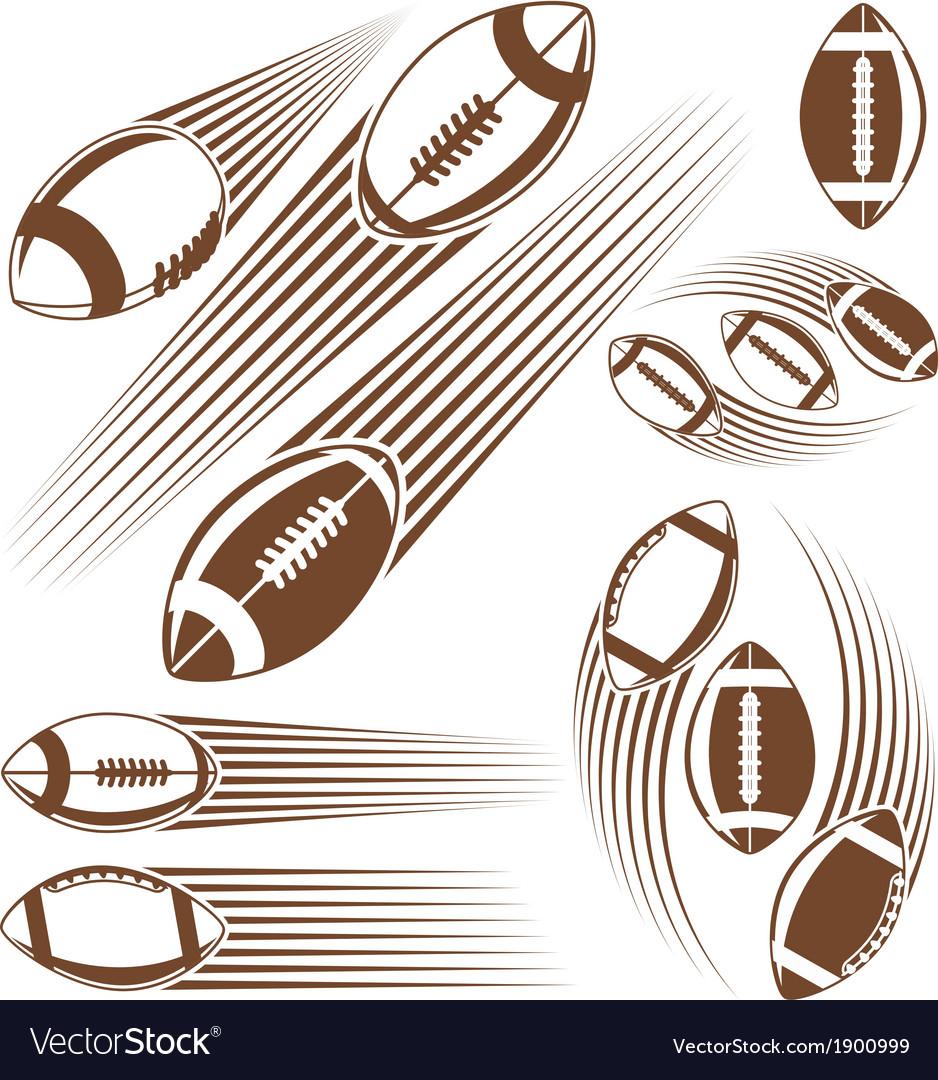 Symbolic american football ball