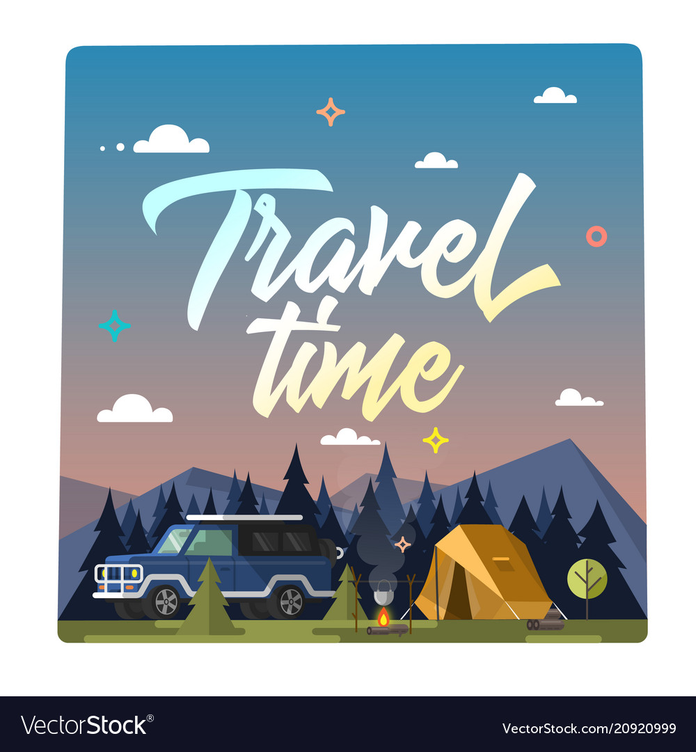 Travel time colorful