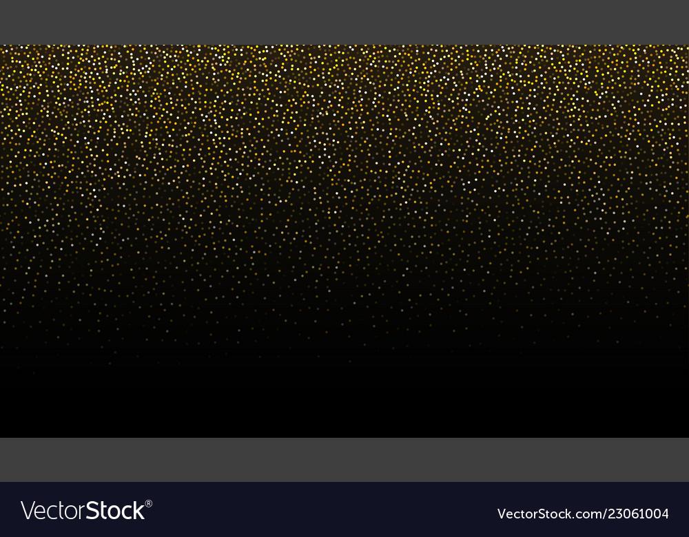 Gold glitter seamless border background