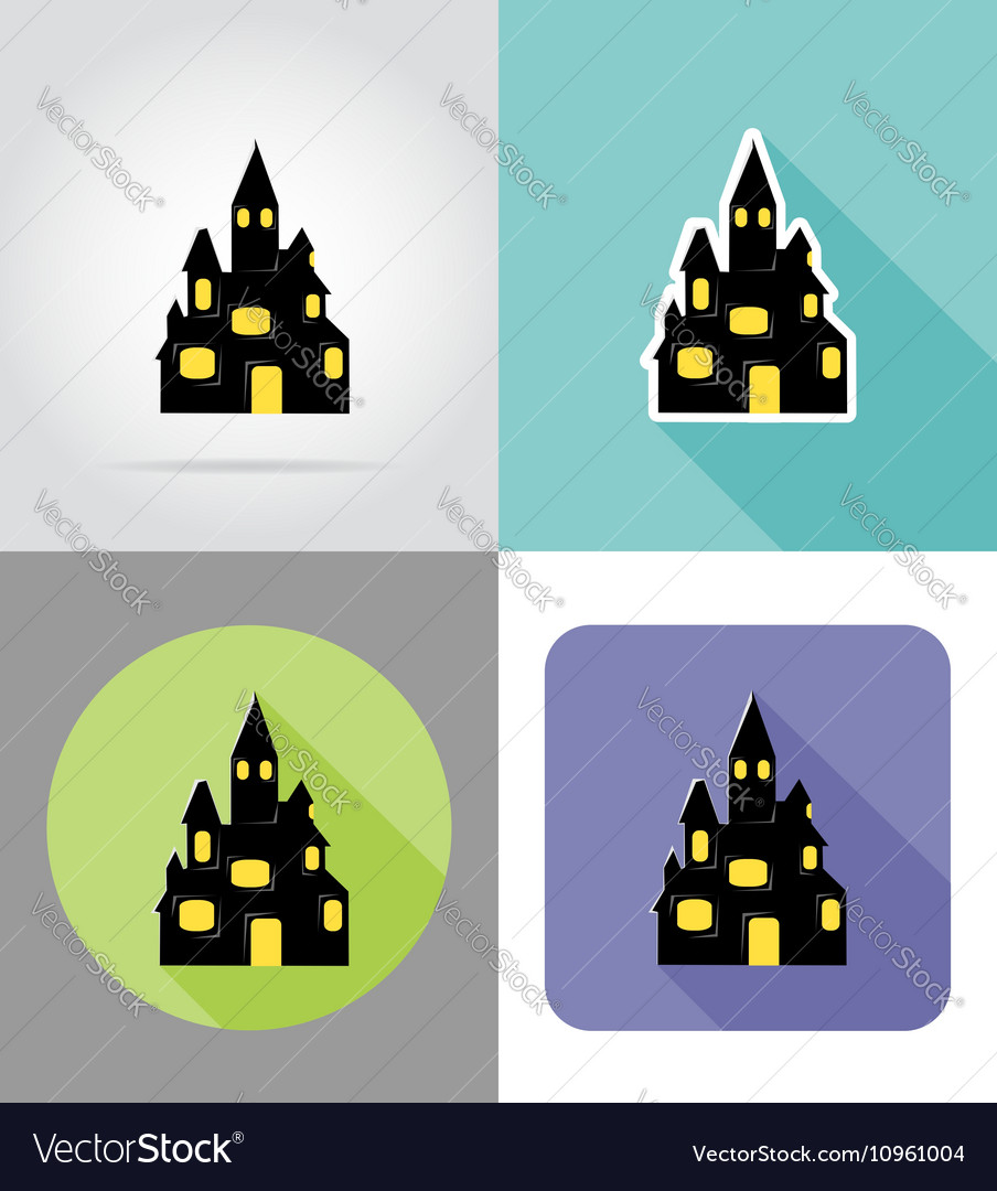 Halloween flat icons 05