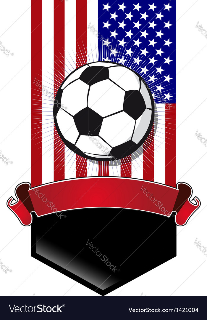 United States Soccer Championship banner vector image