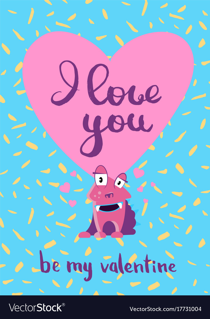 Valentines day card with hearts cute royalty free vector valentines day card with hearts cute vector image voltagebd Image collections