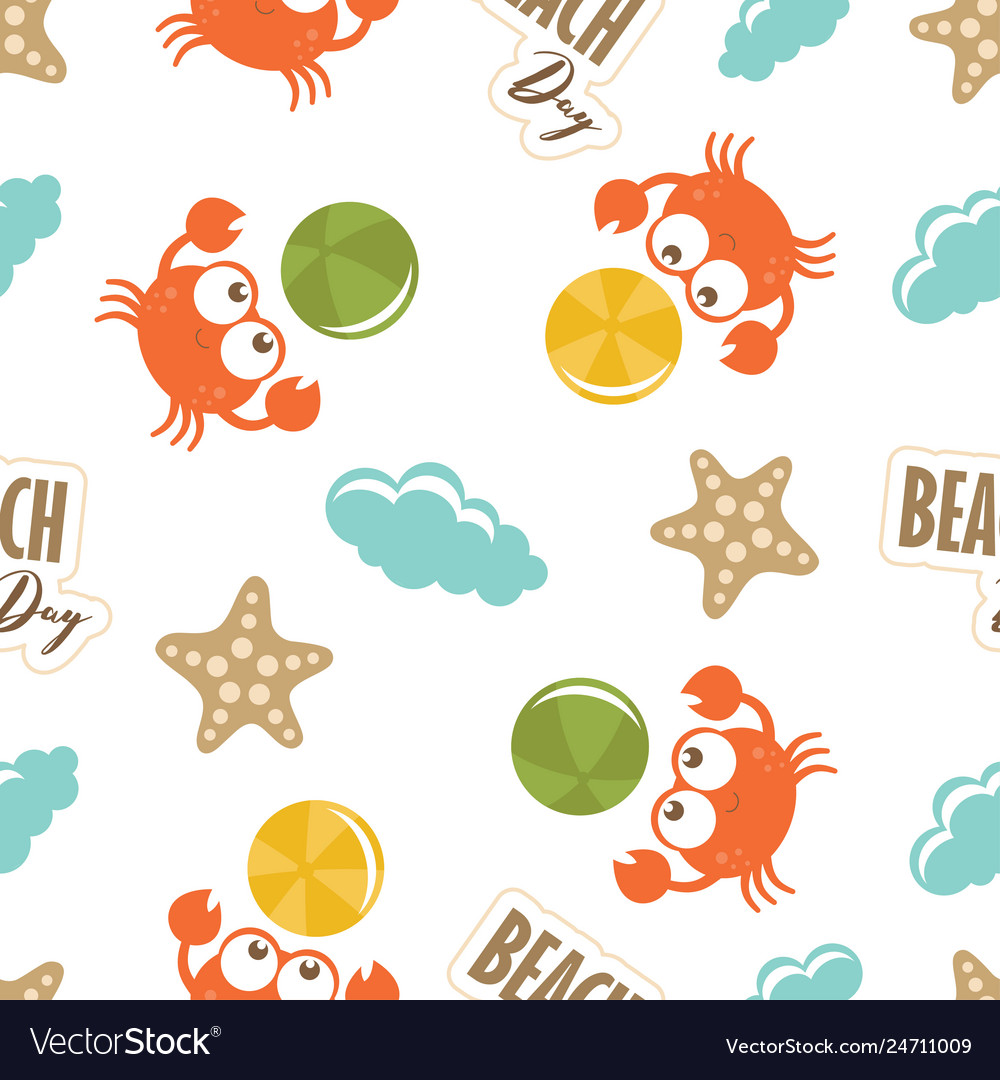 Baby cute pattern with crabs