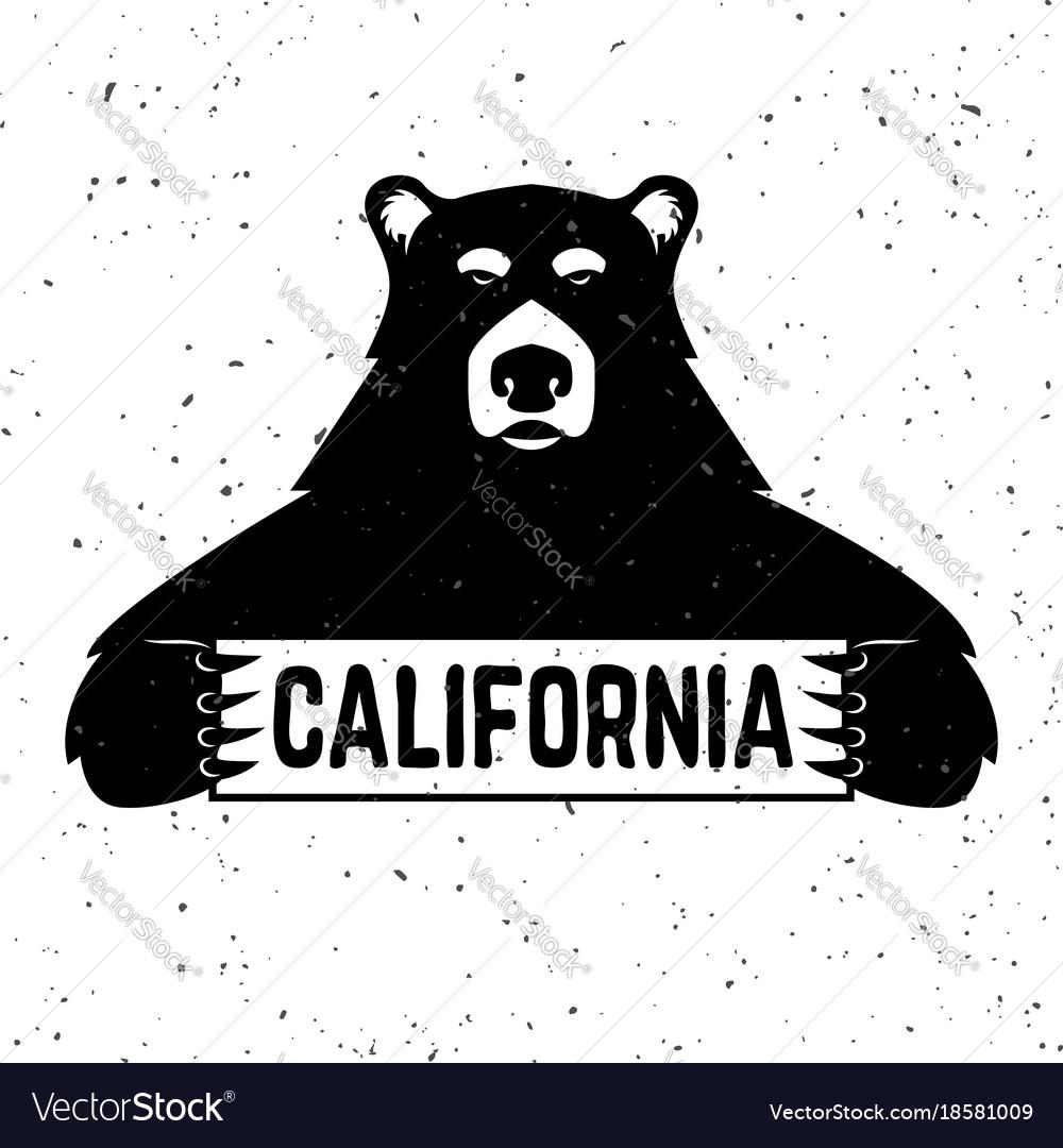 Bear with california sign