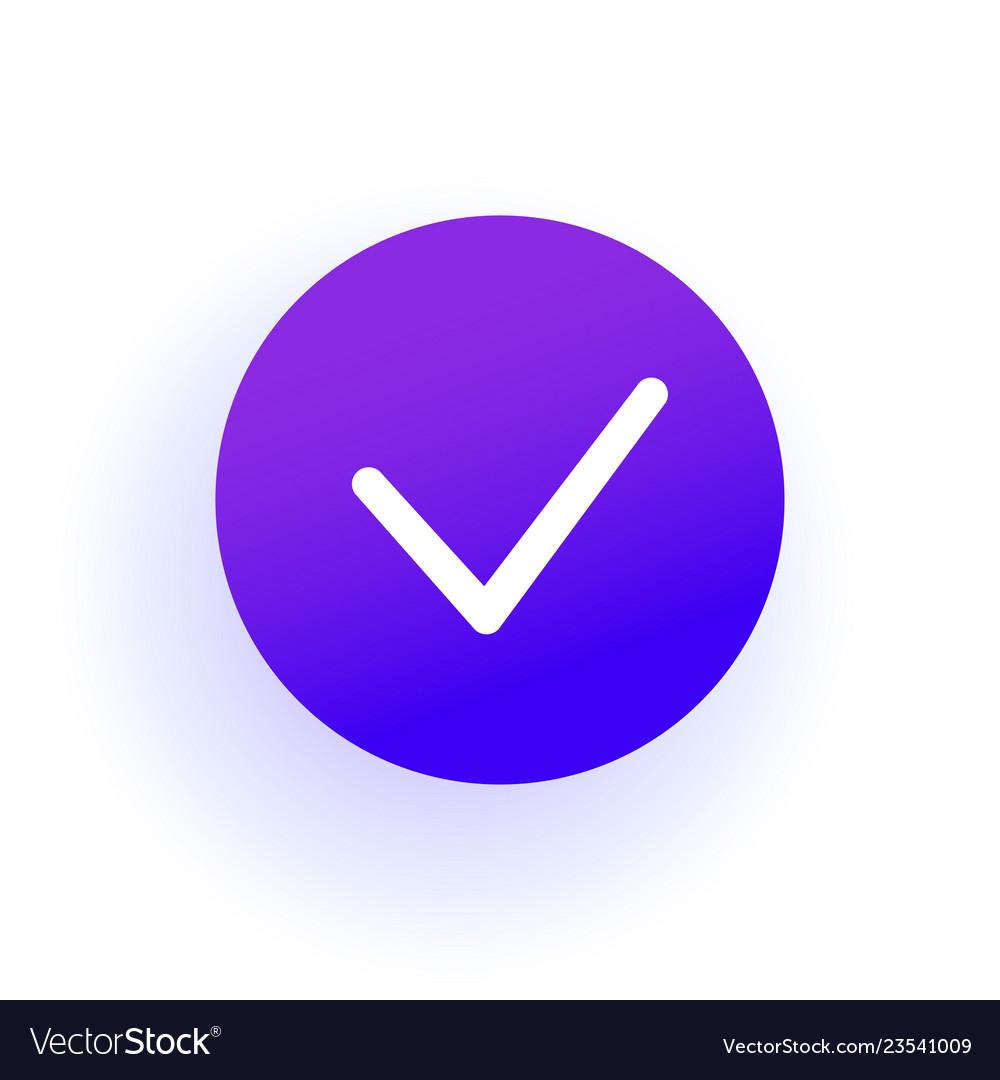 Checkbox icon thin checkmark purple gradient