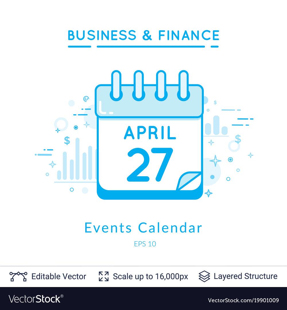 Events calendar symbol on white