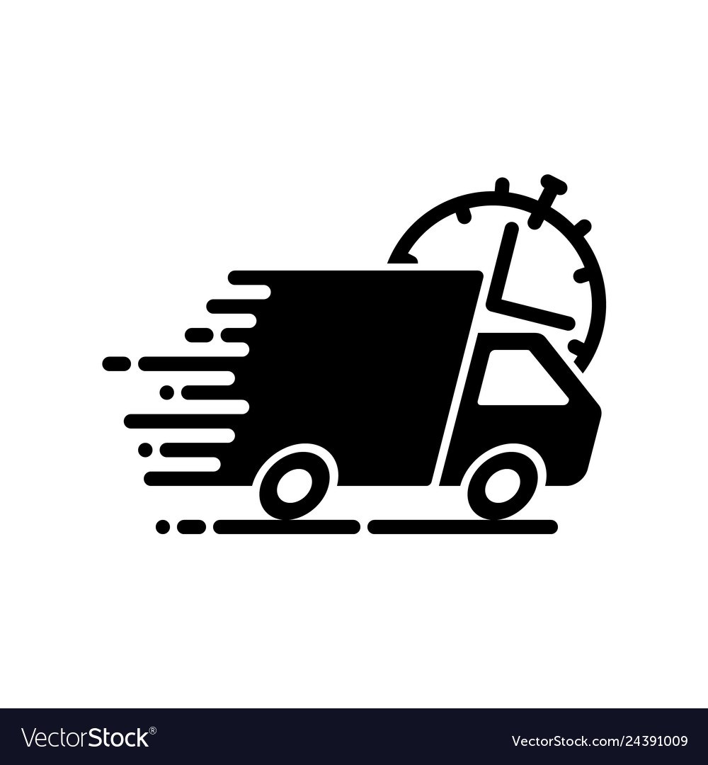 Fast shipping black icon
