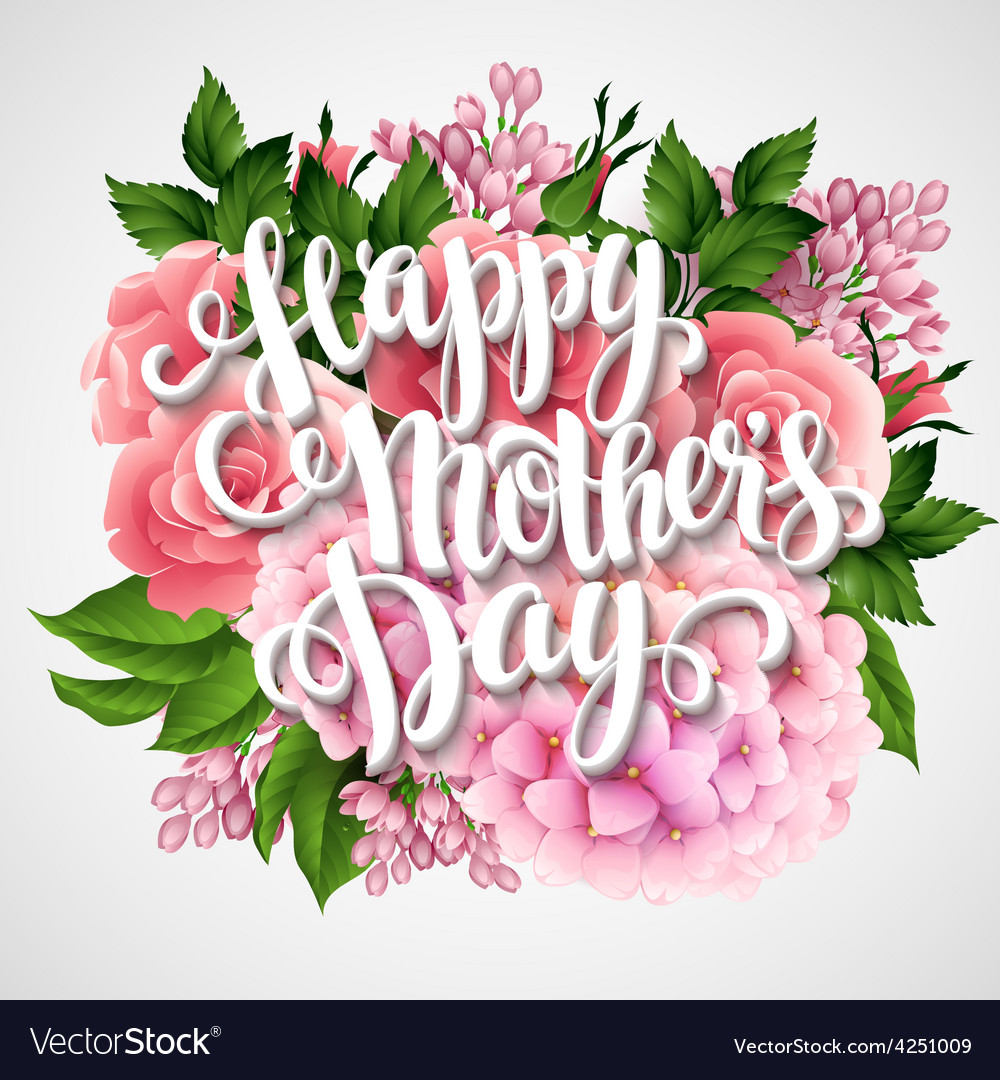 Happy mothers day card with beautiful flowers vector image m4hsunfo