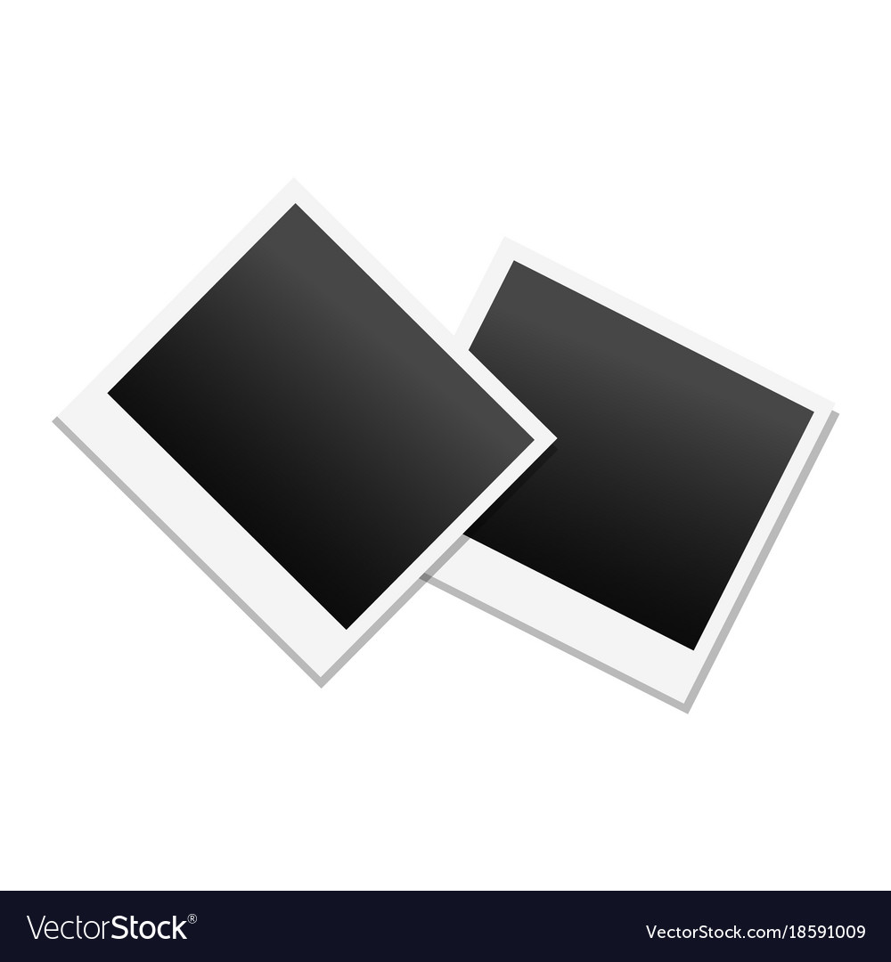 Photo frame in black and white colors Royalty Free Vector