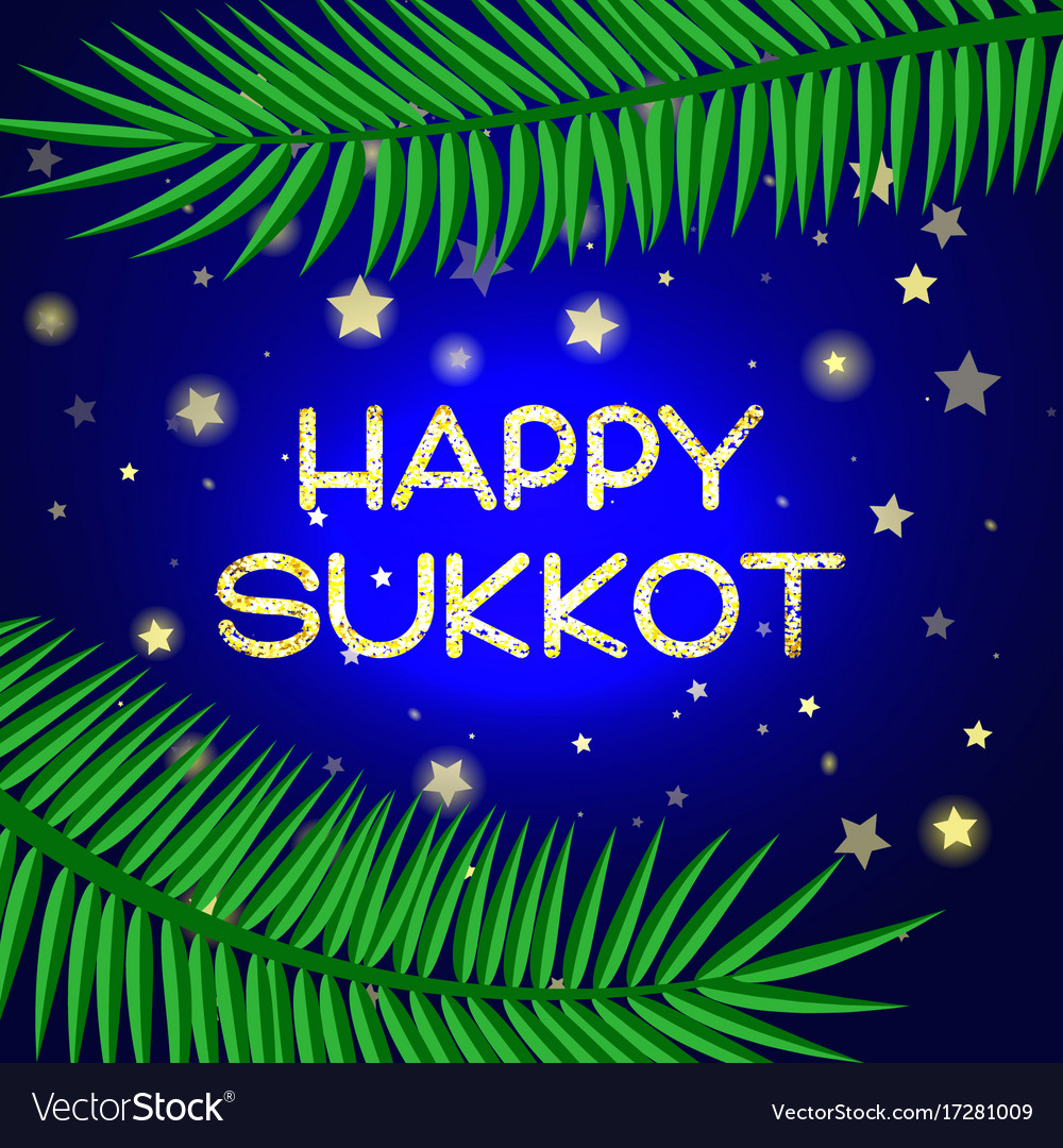 Sukkot Festival Greeting Card Royalty Free Vector Image