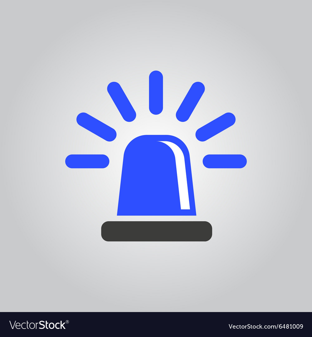 The flasher icon Police and ambulance alarm vector image